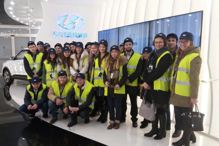 Экскурсия на завод компании Hyundai Motor: студенты посетили мир роботов и машин