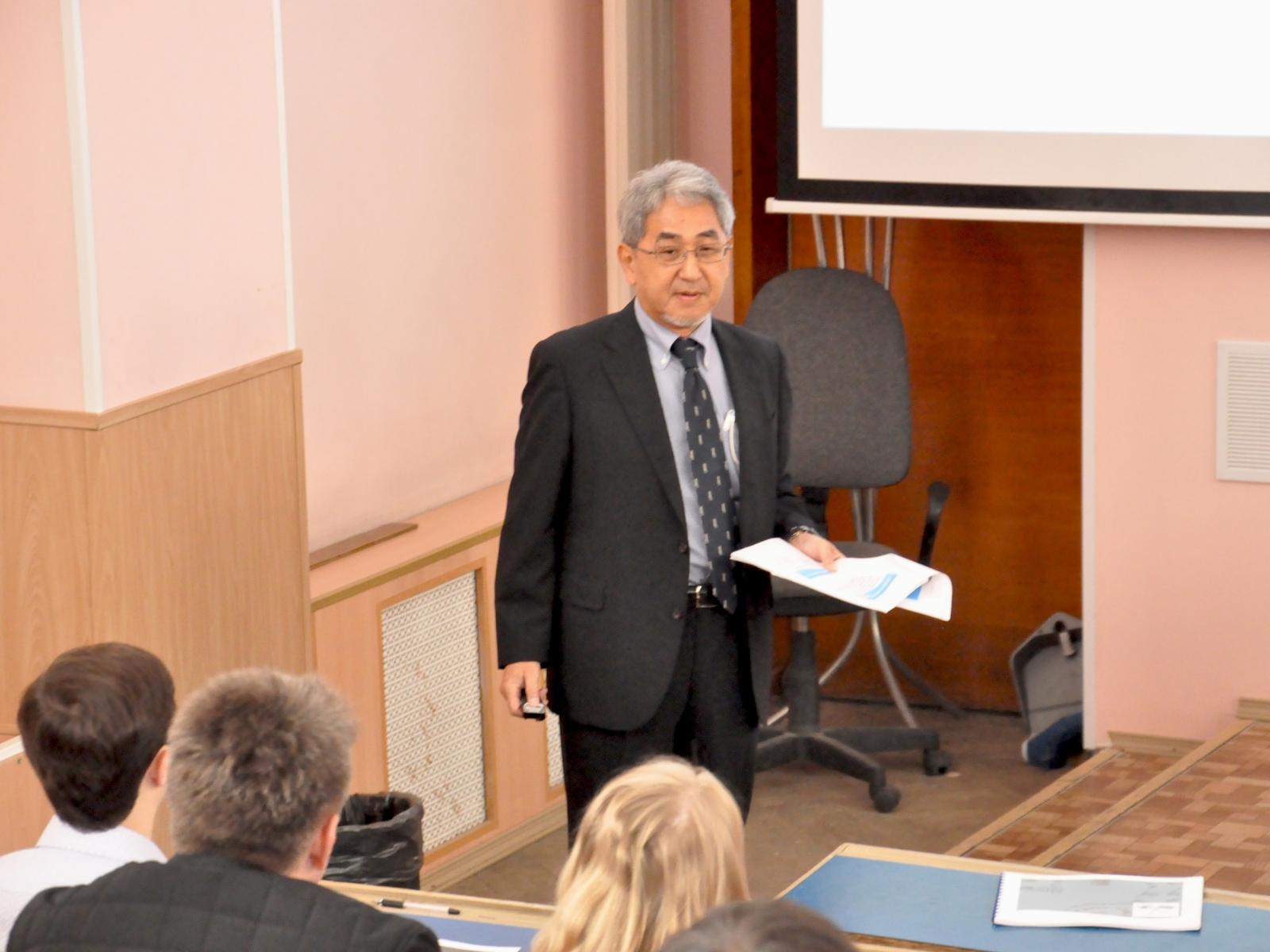 Лекция профессора Японского центра Хирума Ясуо
