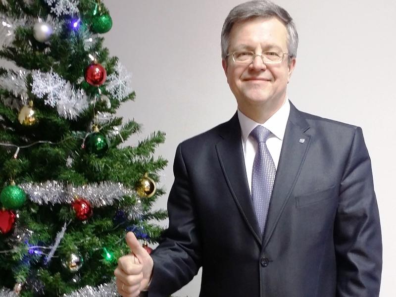 Новогоднее поздравление директора института В.Э.Щепинина