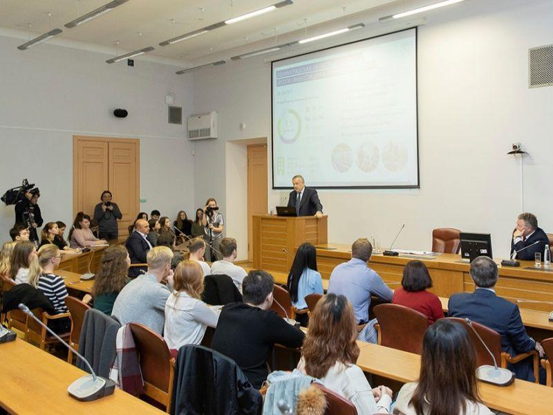 Открытая лекция губернатора Ленинградской области А.Ю. Дрозденко